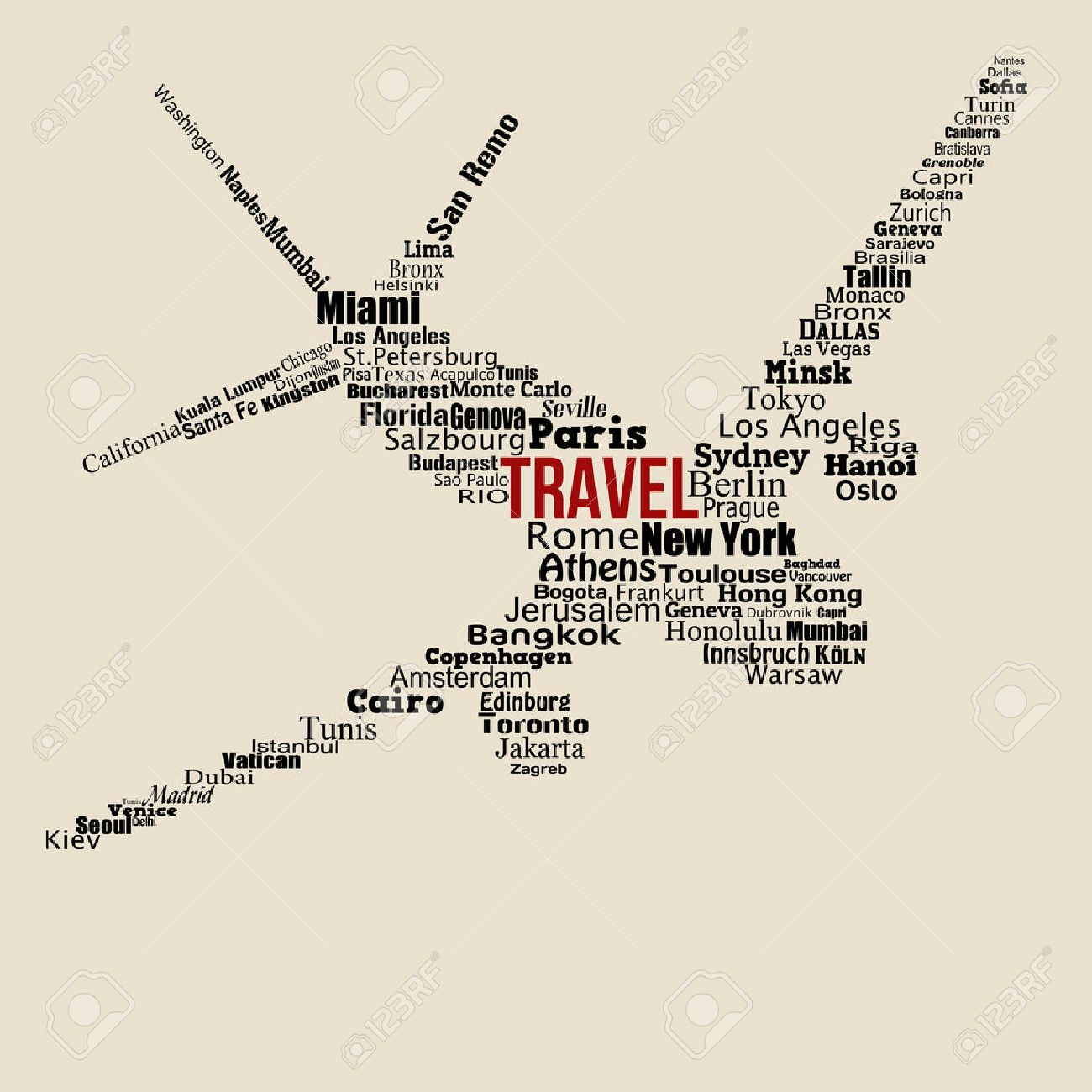 1300x1300 World Travel Concept Made With Words Drawing A Airplane On Vintage