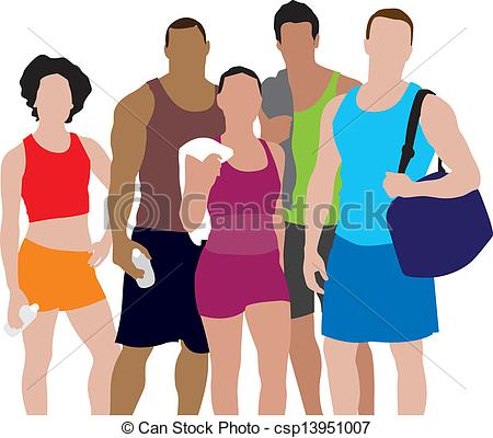 450x400 People Working Out Illustration Vector Clipart