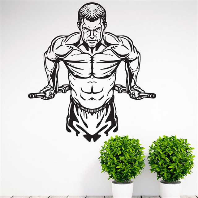 640x640 Workout Gym Fitness Wall Decal Art Home Decor Vinyl Wall Stickers