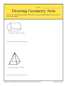 230x298 Drawing Geometry Nets 6th Grade Geometry Worksheets