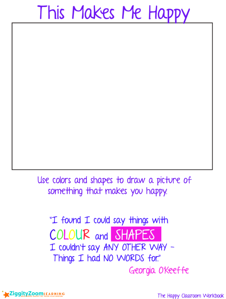 773x1024 Happy Drawing Colors And Shapes Worksheet