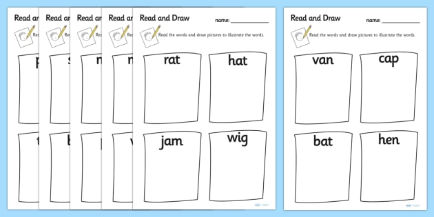 630x315 Read And Draw Cvc Worksheets