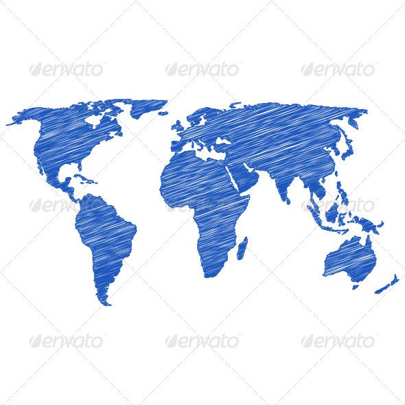 590x590 Drawing World Map By Julydfg Graphicriver