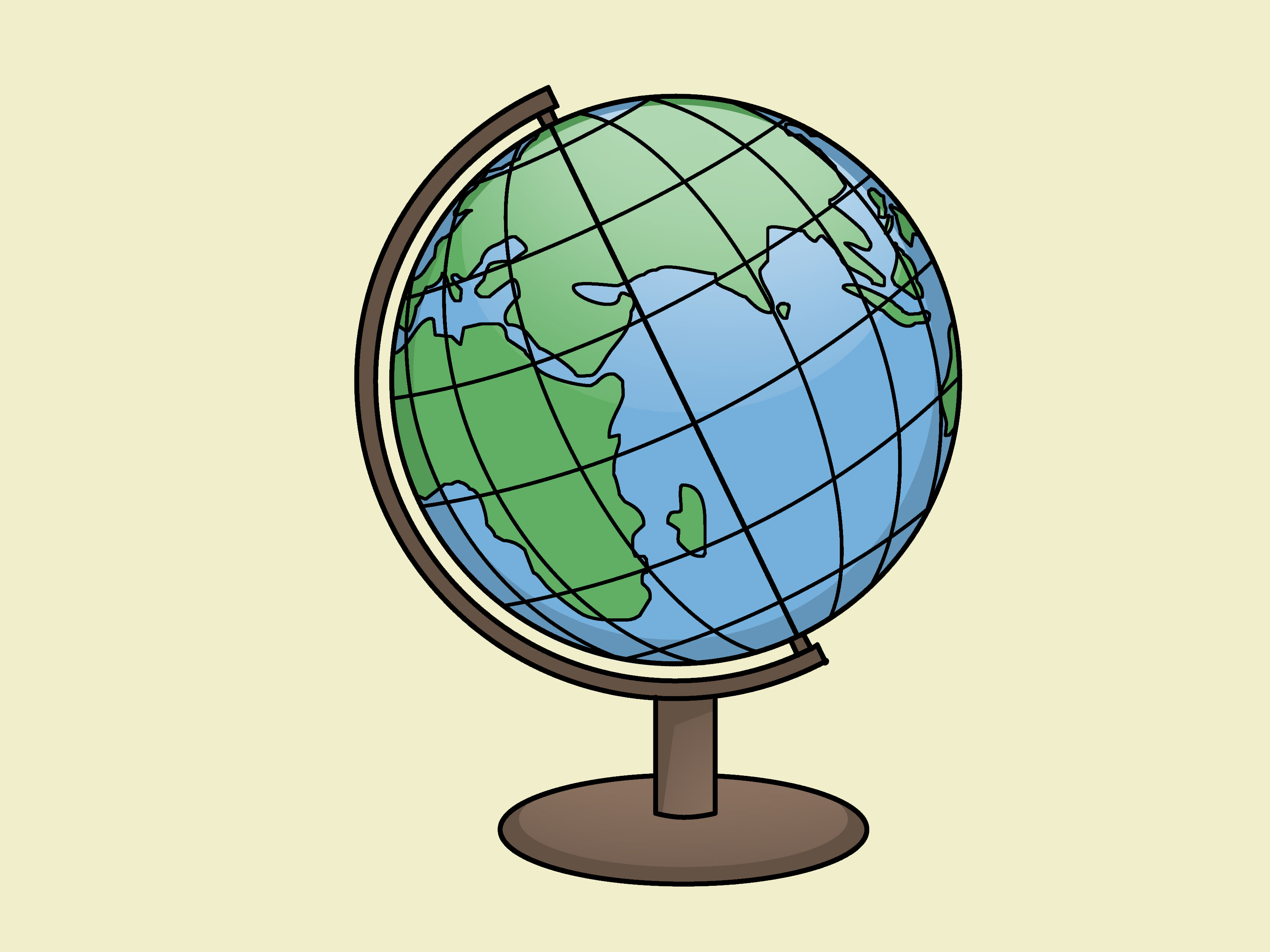 3200x2400 A Globe Is The Earth Except It's Attached To A Wheel To Keep It
