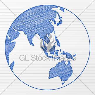 325x325 Drawing World Globe 2 Gl Stock Images