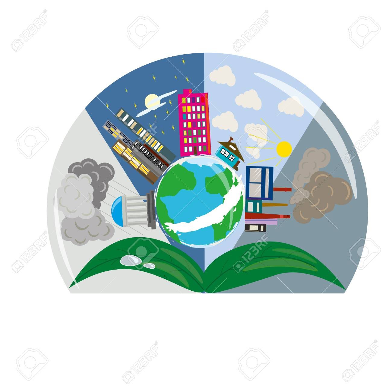 1300x1300 Drawing World Globe Planet Building Royalty Free Cliparts, Vectors