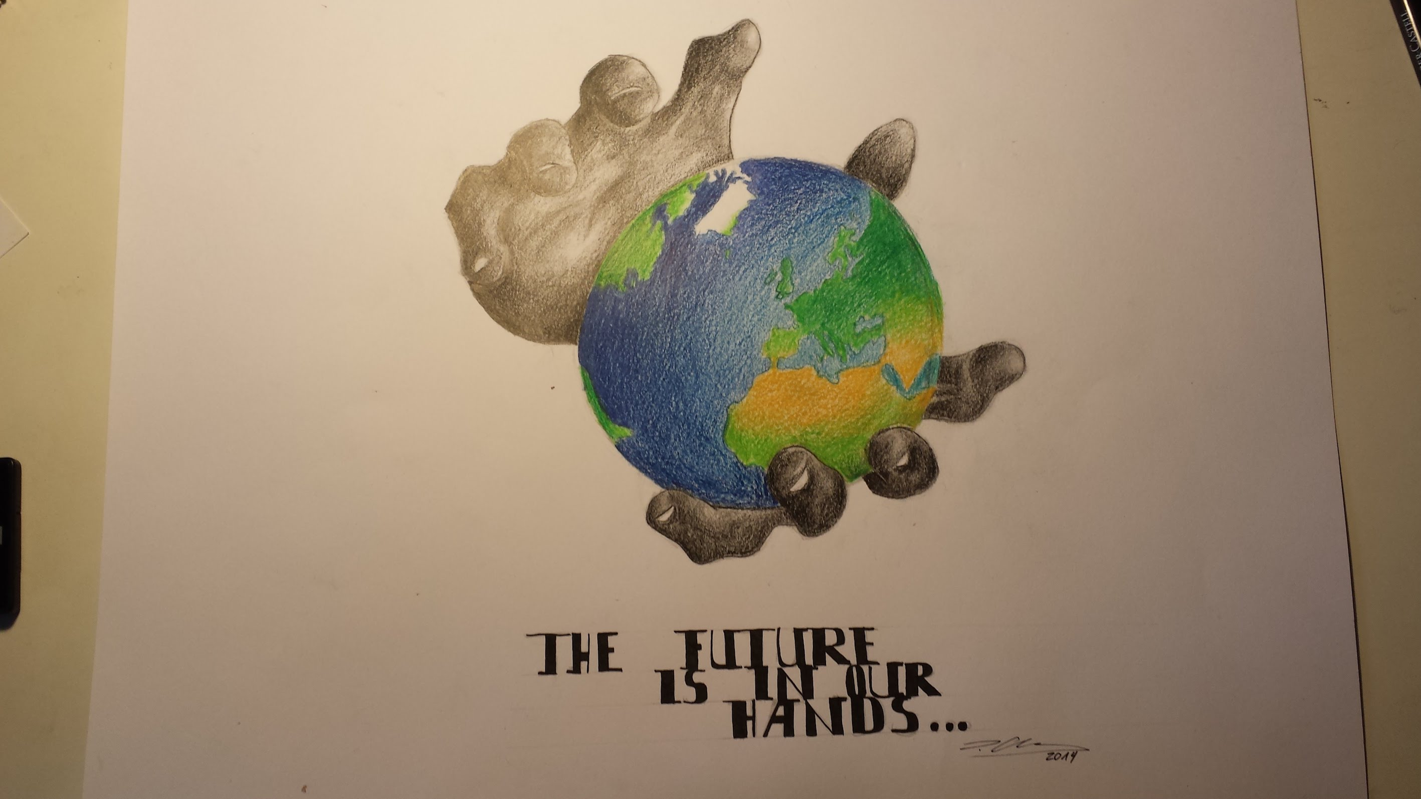 2835x1594 Drawing Timelapse The World Is In Our Hands