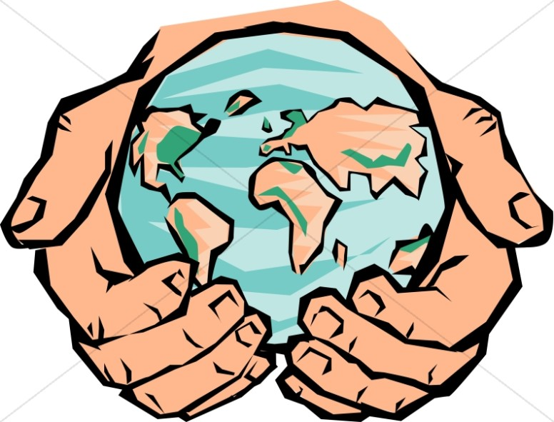 776x591 He's Got The Whole World In His Hands Peace Clipart