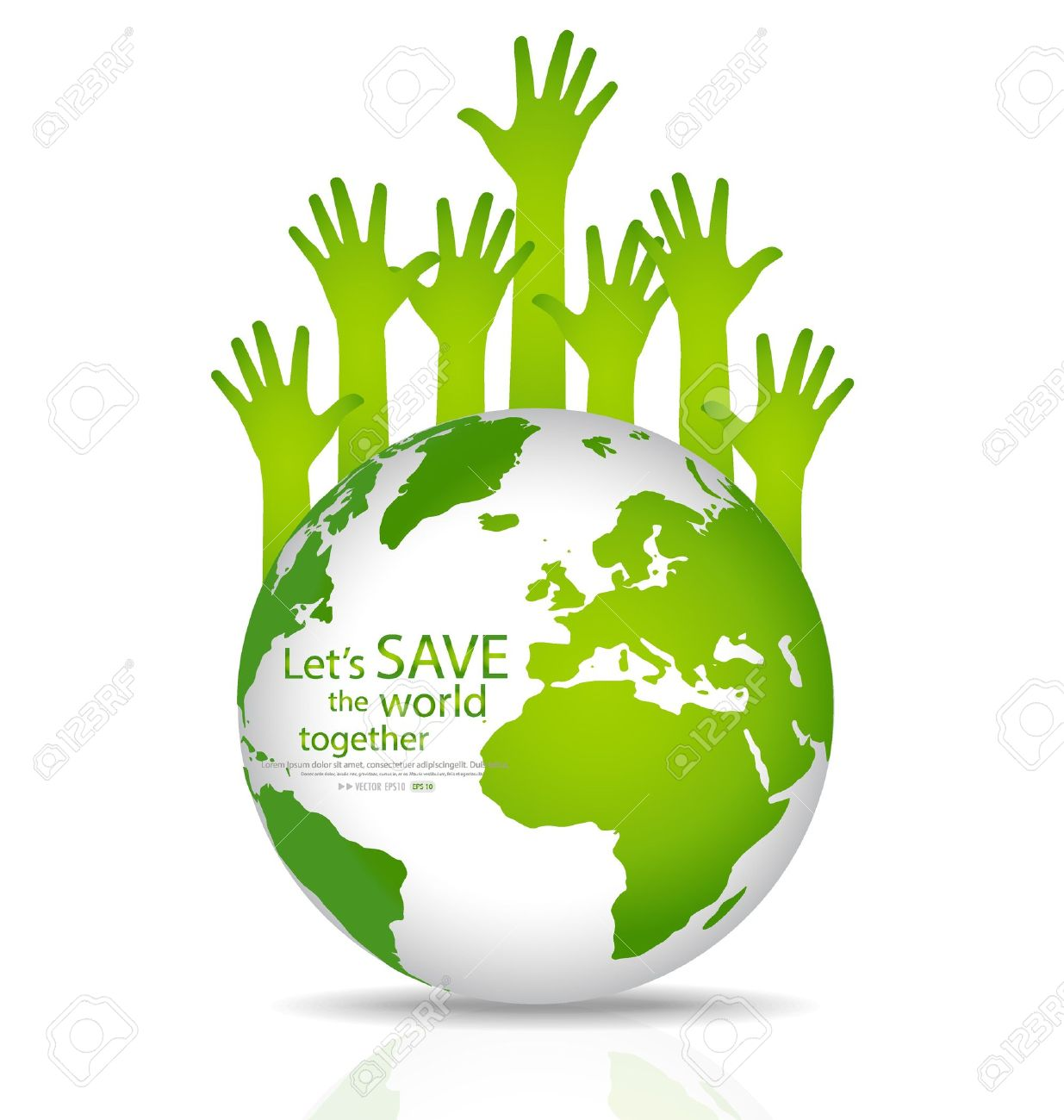 1235x1300 Save The World, Globe With Hands. Illustration. Royalty Free