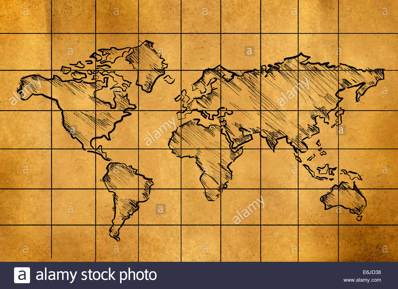 World map drawing at getdrawings free for personal use world 1300x945 world map sketch on old paper grid art drawing stock photo gumiabroncs Image collections