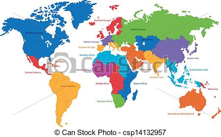 World map drawing at getdrawings free for personal use world 450x279 world map united nations divides the world into clipart vector gumiabroncs Image collections