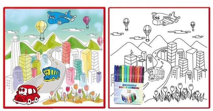 698x366 fantastic colour drawing mat kids colouring world map 50cm x 50cm