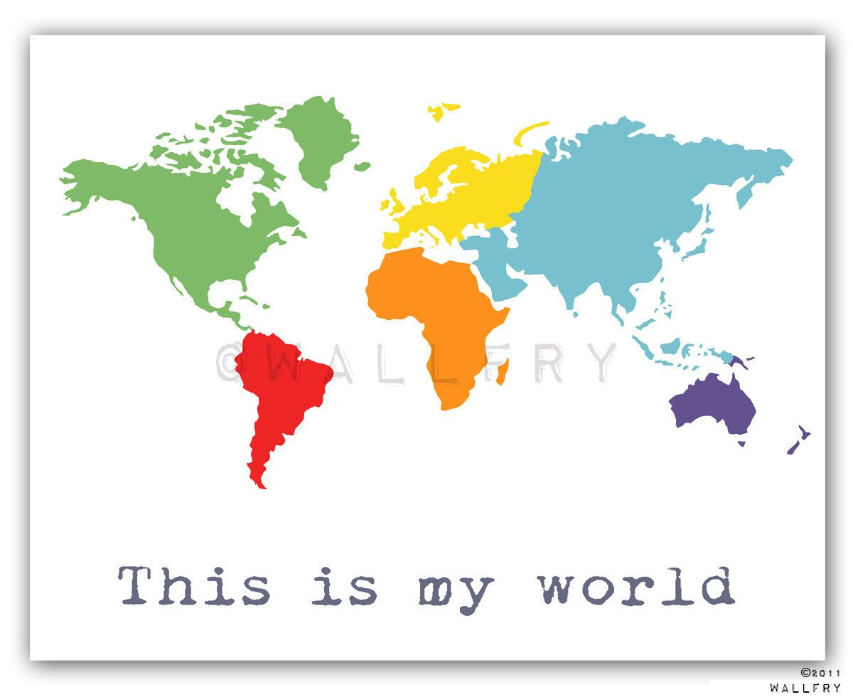 World map drawing for kids at getdrawings free for personal 1200x980 world map children decor kids wall art for children baby nursery gumiabroncs Choice Image