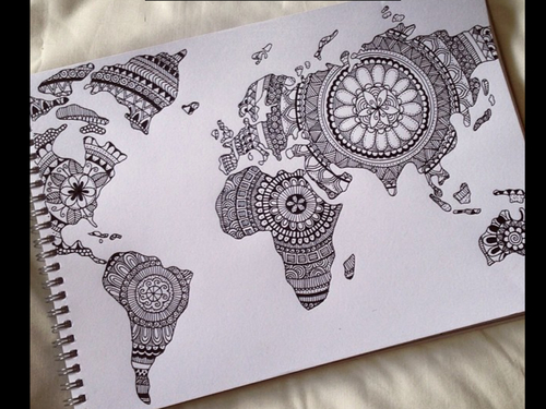 World map drawing tumblr at getdrawings free for personal use 500x375 drawing discovered by happy tropicalvibes on we heart it gumiabroncs Gallery