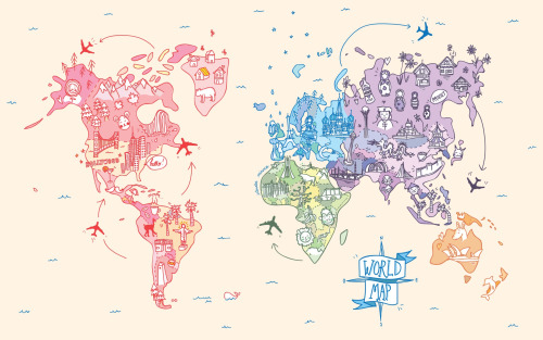 World map drawing tumblr at getdrawings free for personal use 500x313 world map art and possible body art pinterest gumiabroncs