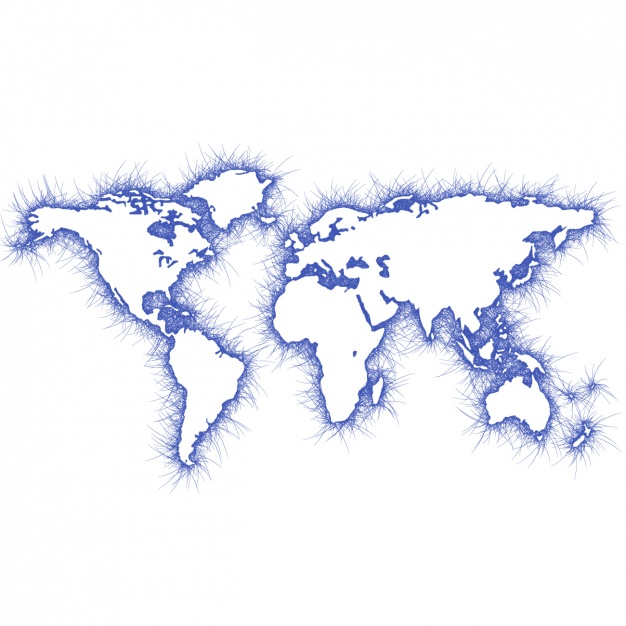 626x626 blue world map design vector free download