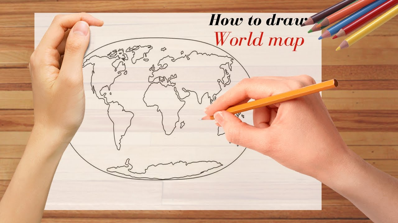 1280x720 How To Draw World Map