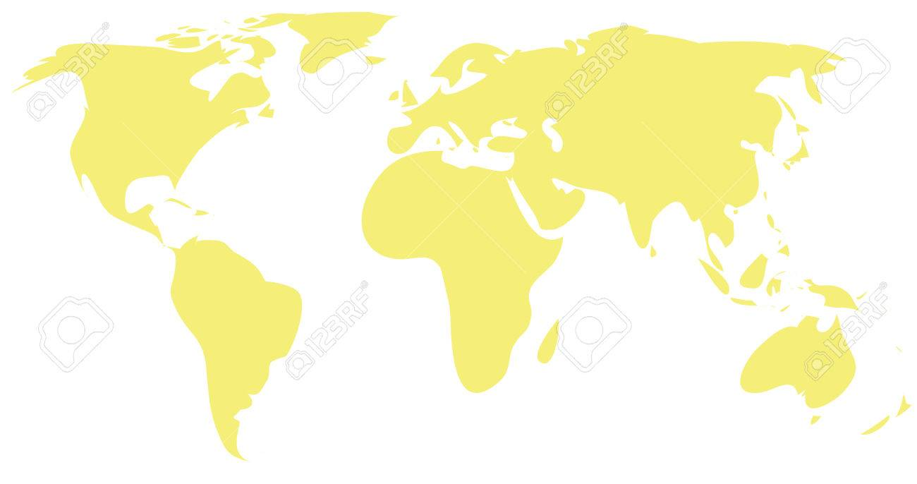 World map for drawing at getdrawings free for personal use 1300x686 simple drawing yellow world map royalty free cliparts vectors gumiabroncs Image collections