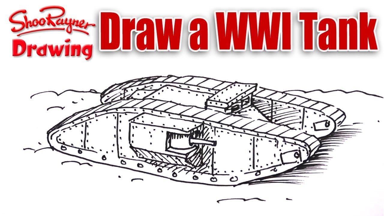 1280x720 How To Draw A Ww1 Tank