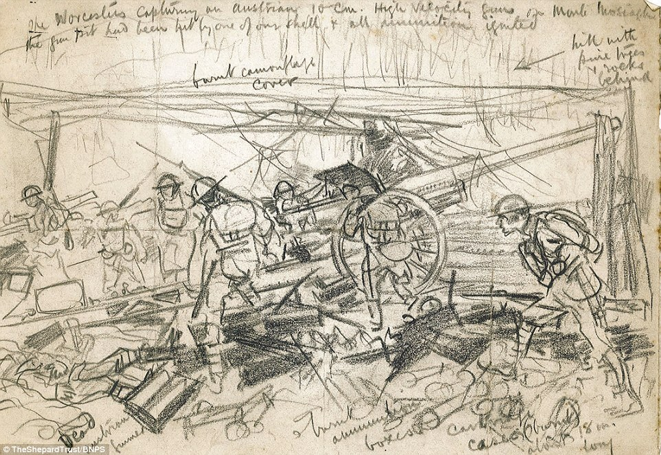 962x662 Wwi Sketches By Winnie The Pooh Illustrator E.h. Shepard Unearthed