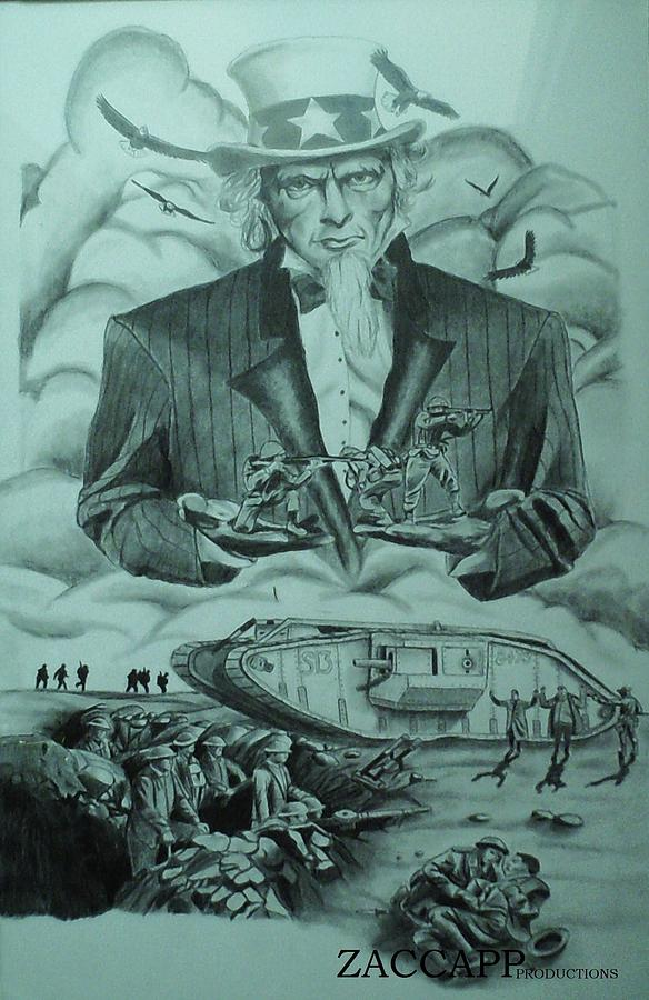 584x900 World War 1 Drawing By Zachary Capodici