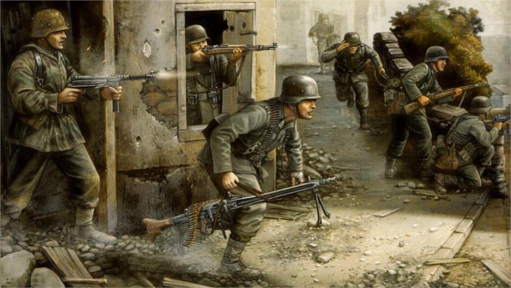 1000x563 24x36 Inch Art Silk Poster Art World War 2 Ww2 F Flames Of War