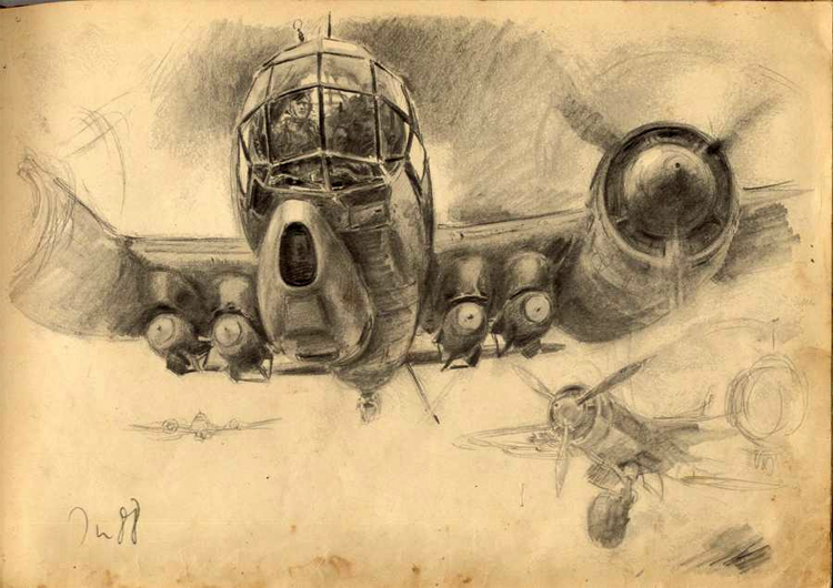 750x530 War Ii Sketches By Hans Liska
