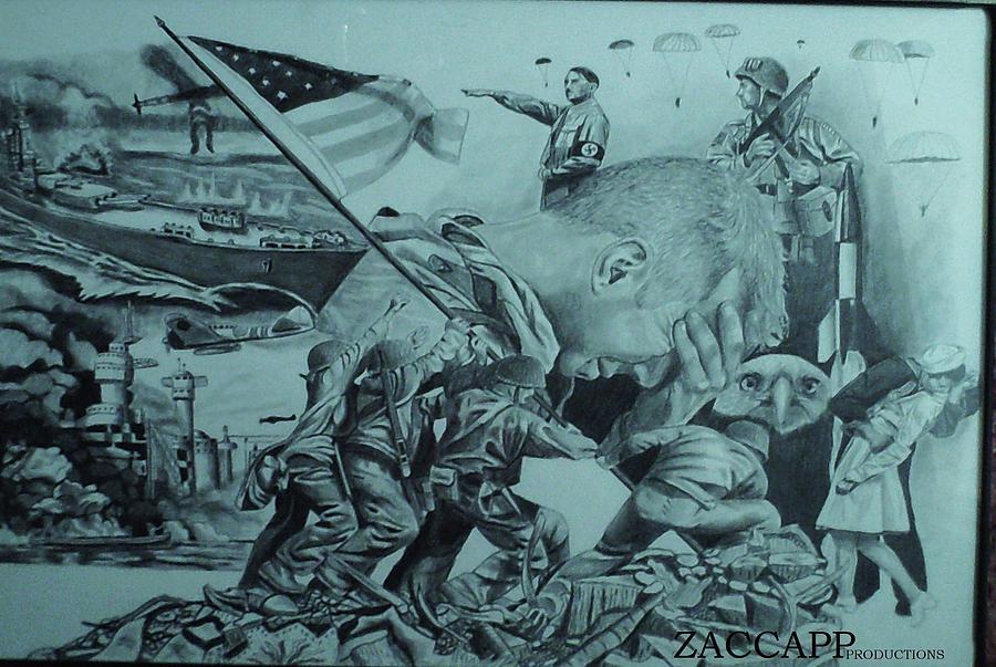 900x603 World War 2 Drawing By Zachary Capodici