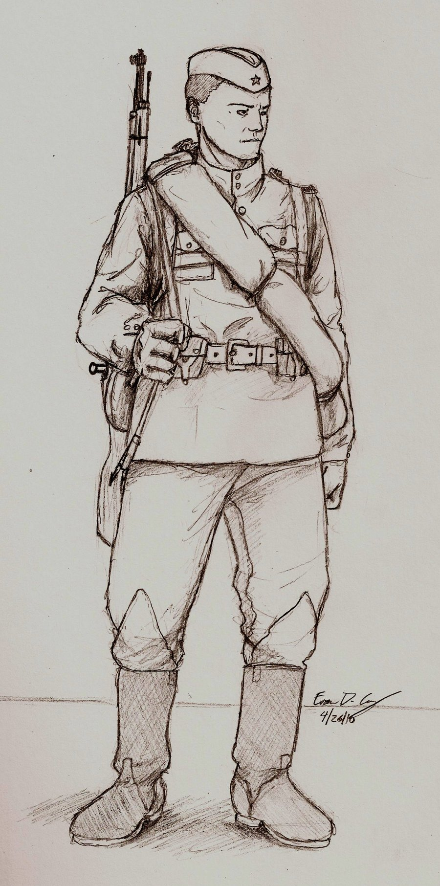 World War 2 Soldier Drawing At Getdrawings Com Free For Personal