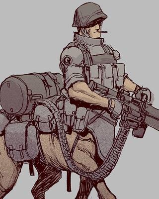 320x400 World War Ii Centaur Soldier Fantasy Art Geektyrant
