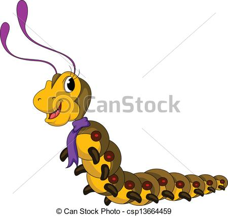 450x425 Vector Illustration Of Cute Yellow Worm Cartoon Clipart Vector
