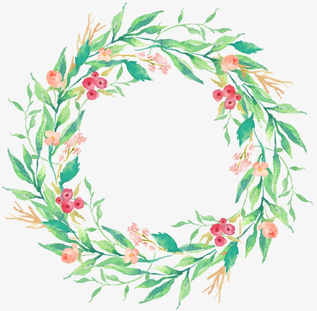 650x636 Drawing Circular Wreath 17, Watercolor, Round, Wreath Png Image