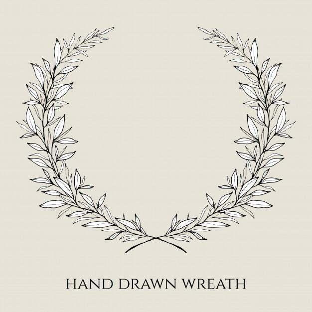 626x626 Hand Drawn Elegant Wedding Wreath Vector Free Download