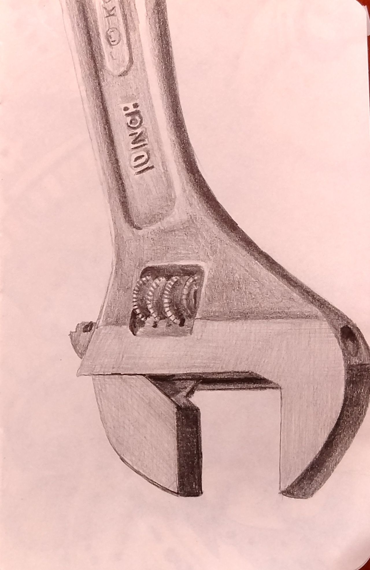 1280x1972 Deanna Williamson, Wrench,5.5 X 3.5, Pencil Drawing, 2017