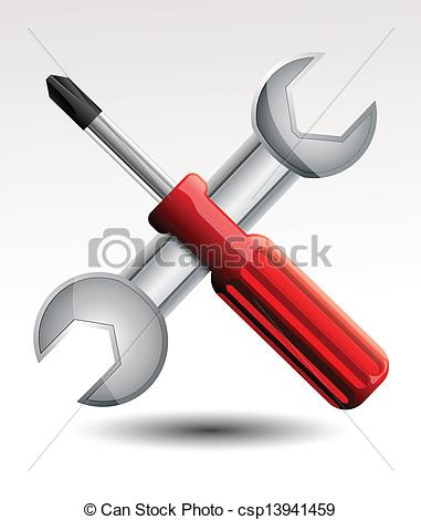 381x470 Screwdriver And Wrench Clipart Vector