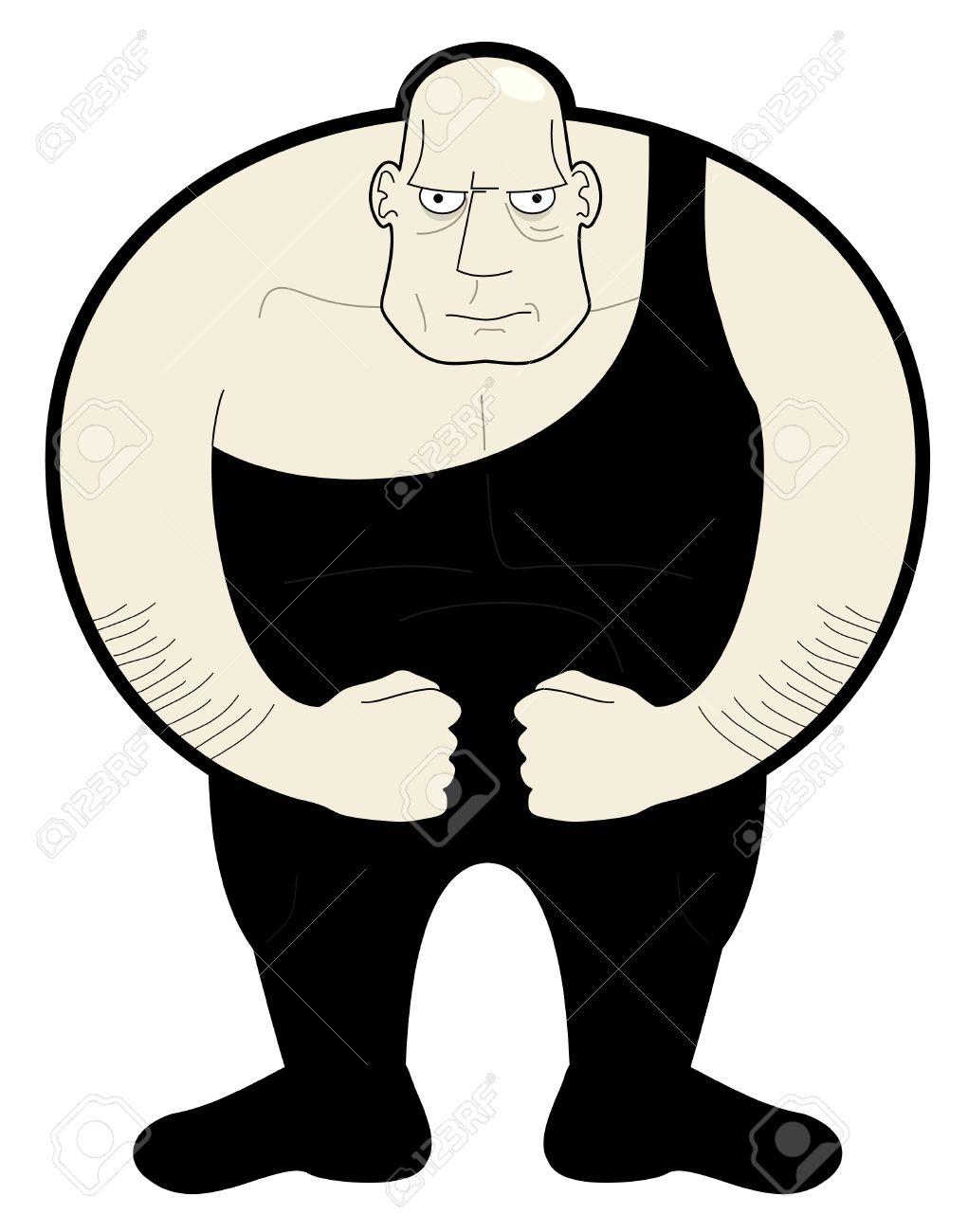 1021x1300 Drawing Fat Man Wrestler Royalty Free Cliparts, Vectors, And Stock