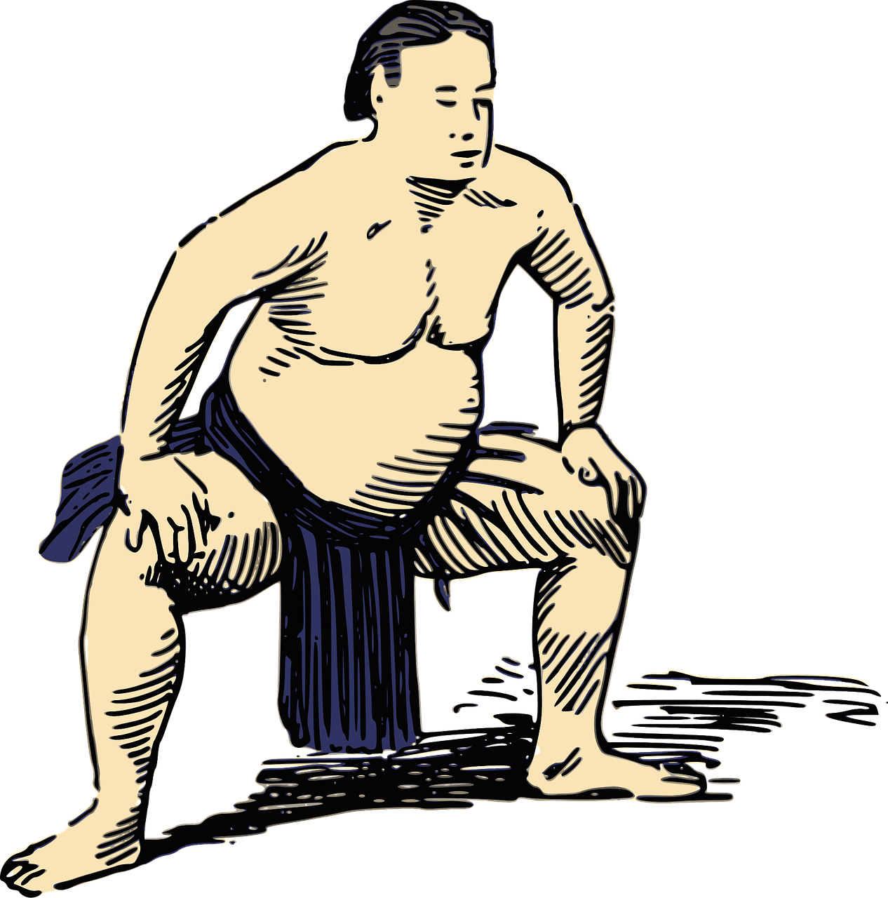1266x1280 Sumo Wrestler Drawing