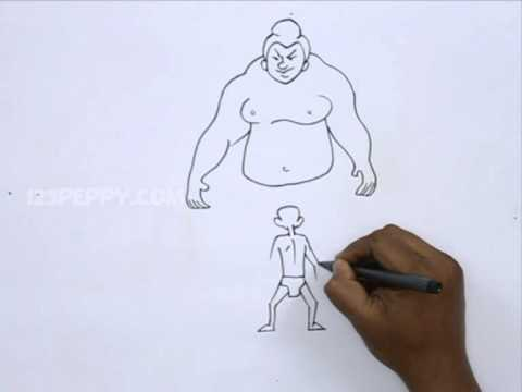 480x360 How To Draw A Sumo Wrestling