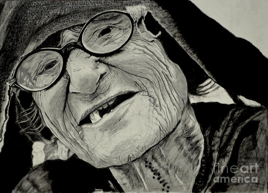 900x649 The Wrinkled Story Drawing By Pooja Rohra