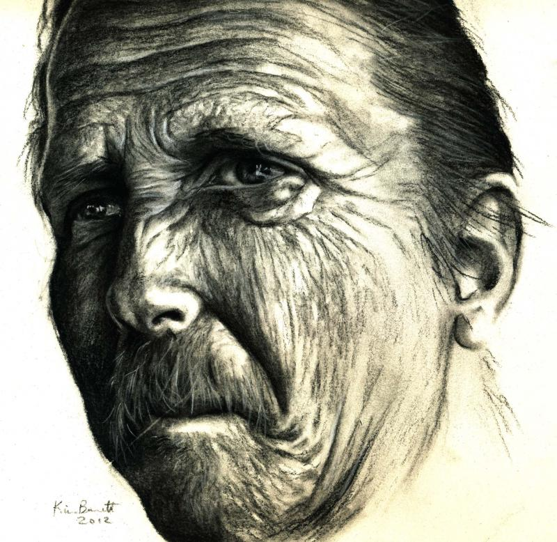 800x778 Wrinkles Charcoal Drawing