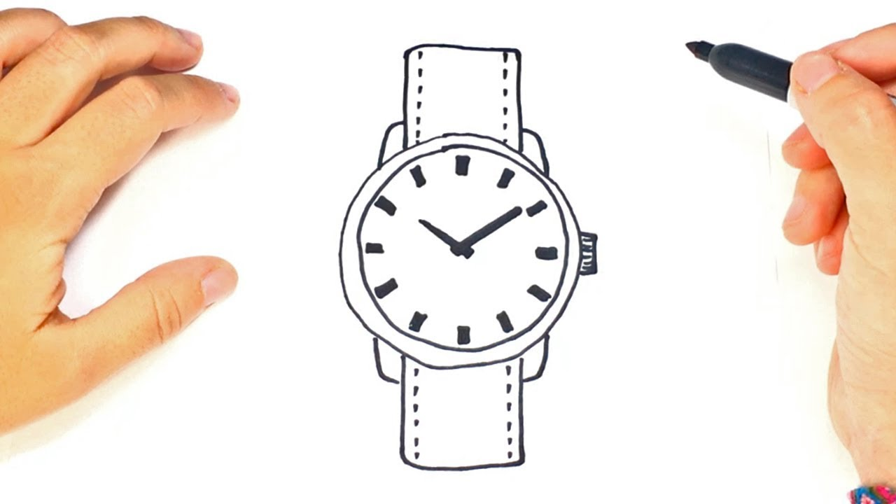 1280x720 How To Draw A Wristwatch Step By Step Drawings Tutorials