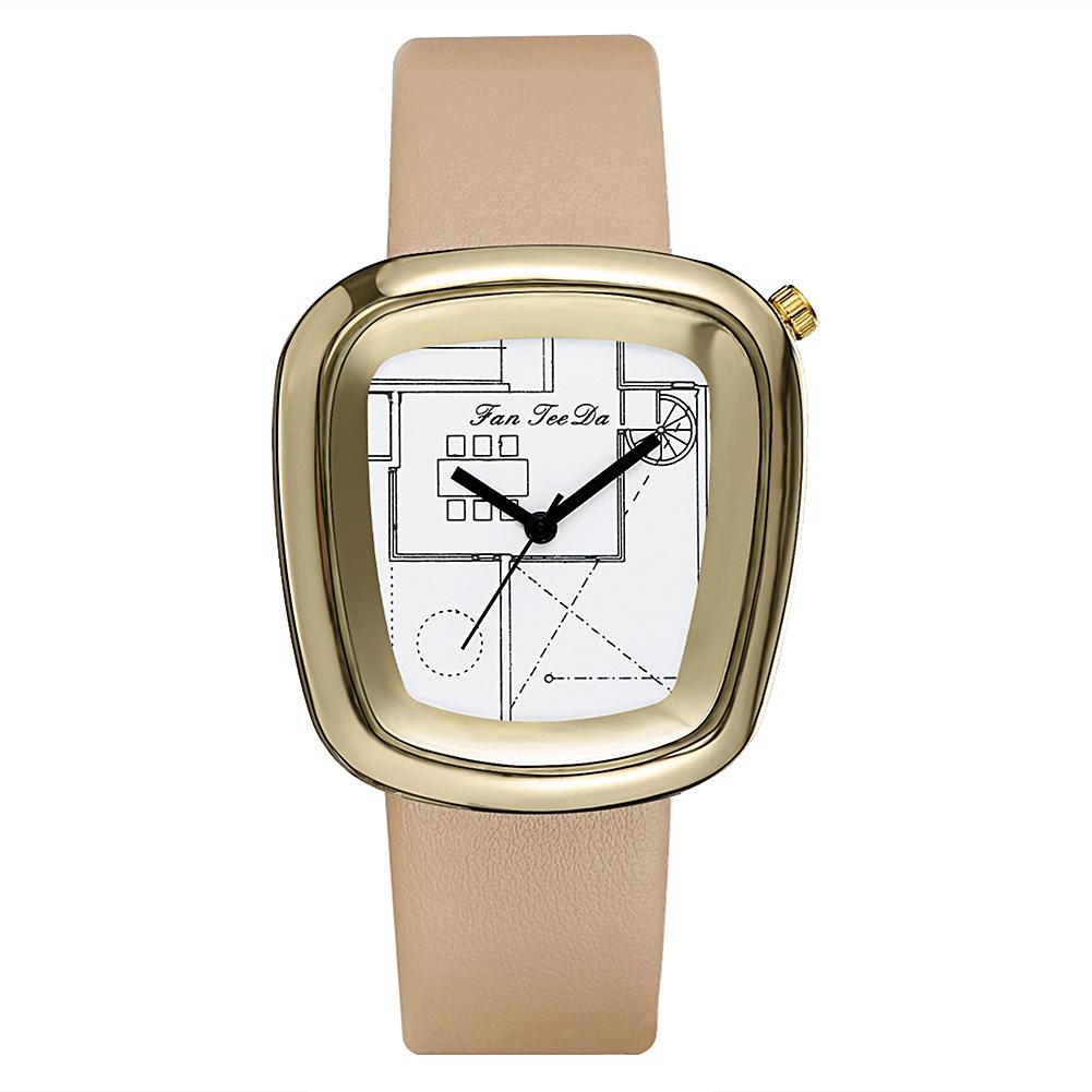 1001x1001 Luxury Ladies Quartz Wrist Watch Fashion Geometric Drawing Pattern