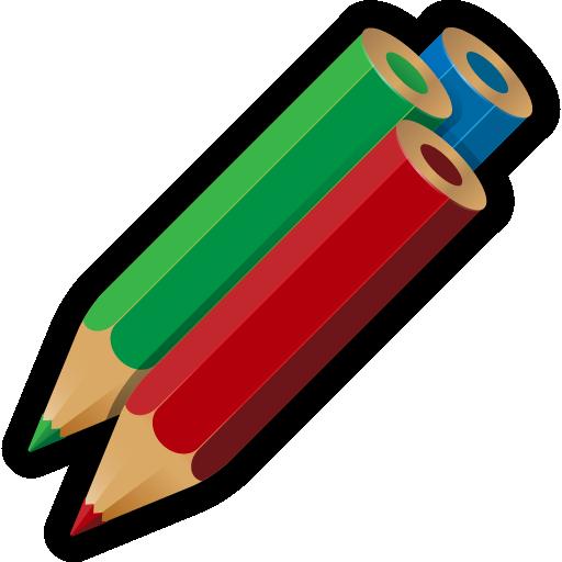 512x512 Artwork, Write, Drawing, Pencils, Color Icon