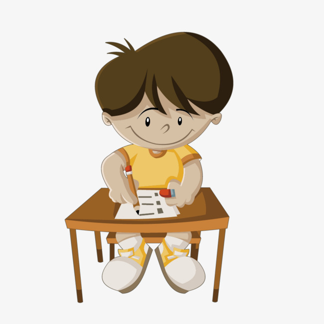 650x651 Vector Drawing Boy Writing Desk, Draw, Desk, Write Png And Vector