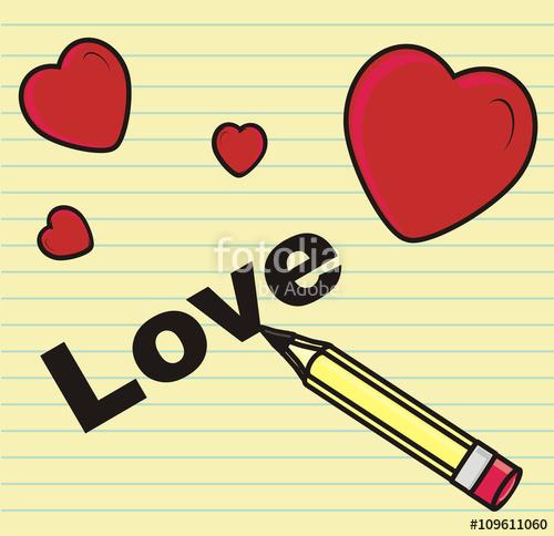 500x484 Love, Heart, Heart, Feelings, Write, Letters, Symbols, Paper