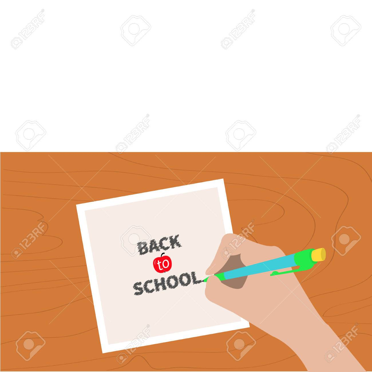 1300x1299 Back To School Chalk Text. Hand Writing Drawing Pen. Girl Holding