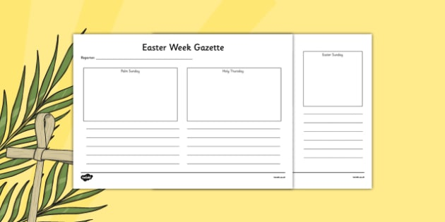 630x315 Easter Week Gazette Writing And Drawing Template