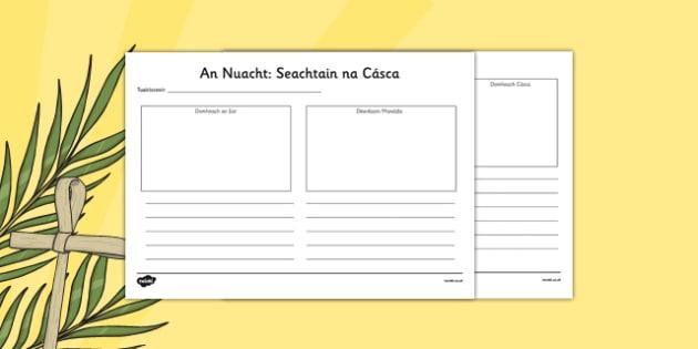 630x315 Irish Gaeilge Easter Week Gazette Writing And Drawing Template