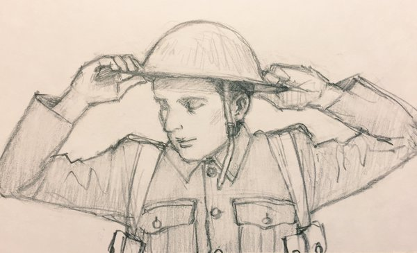 600x365 History Notes By Kumiko Sakaki Drawing Brodie Helmet In Wwi