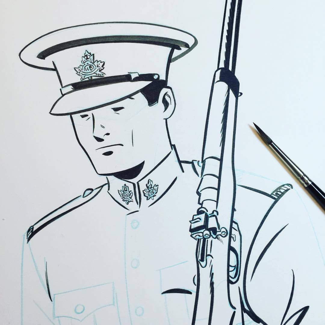 1080x1080 Working On An Illustration Of A Wwi Canadian Scott Chantler